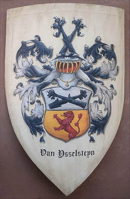Medieval knight shield Asselstine Coat of Arms