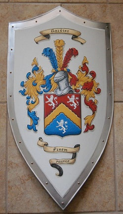 Knight shield with Coat of Arms Heskine