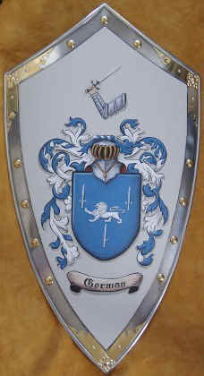 Gorman Coat of Arms shield  steel medieval shield