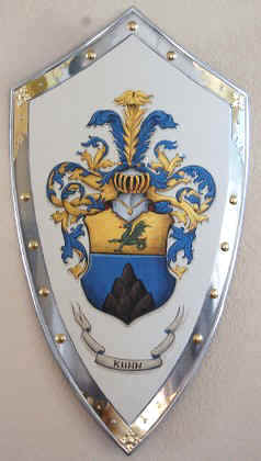 Knight shield with Coat of Arms Kuhn