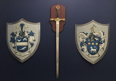 Medieval knight shield family crest  - wall decor