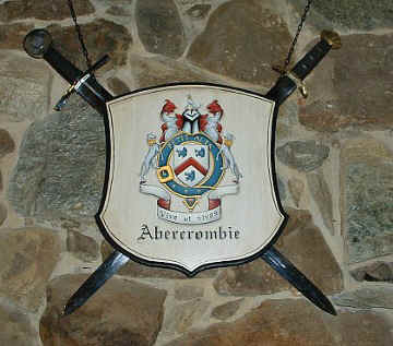 Abercrombie Coat of Arms painting - wall decor w. sword