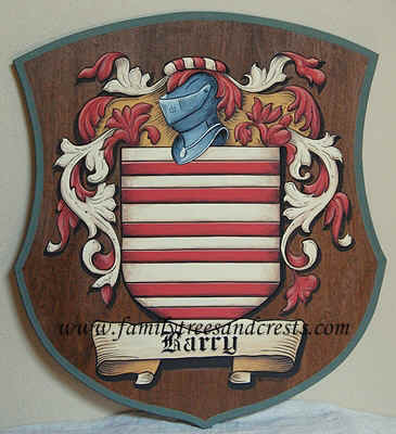 Barry Coat of Arms painting