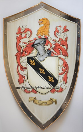 Blind Coat of Arms - Metal medieval knight shield