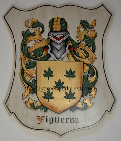 Figueroa Coat of Arms plaque old world