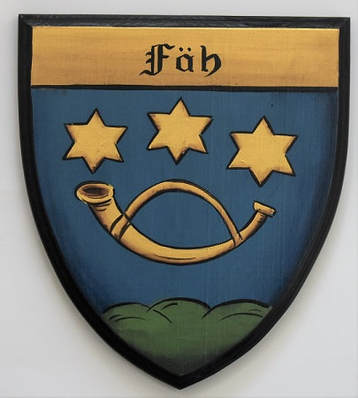 Faeh Coat of Arms shield -wooden plaque