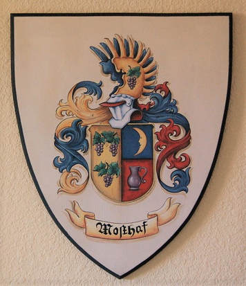 Mostaf Coat of Arms painting wooden plaque