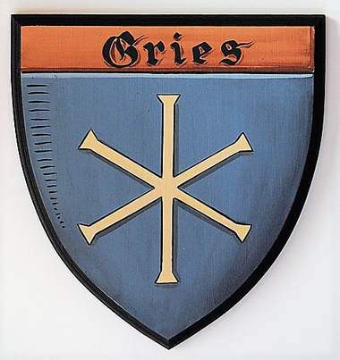 Gries Coat of Arms painting wooden plaque