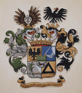 Alliance Coat of Arms wedding family crest