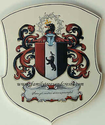 Coat of Arms painting wooden plaque
