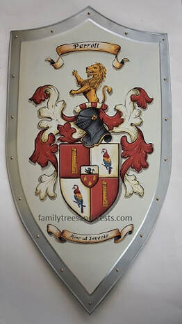 Wedding family crest shield -  Parrott