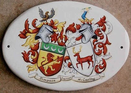 Wedding Coat of Arms - custom family crest ceramic