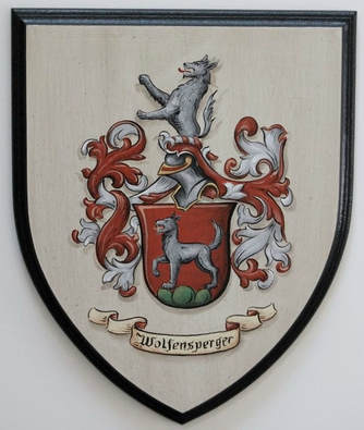 Wolfensperger Coat of Arms painting