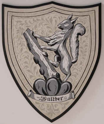 Custom Coat of Arms shield Walther