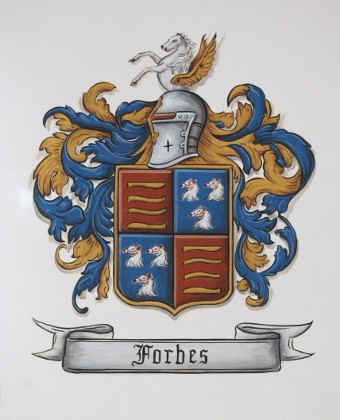 Forbes Coat of Arms painting