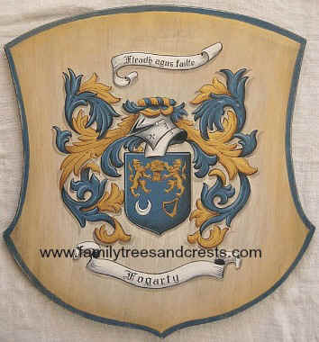 Fogarty Coat of Arms painting wooden plaque