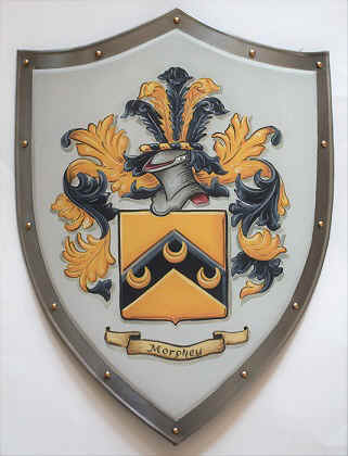 Knight shield with Coat of Arms Morphey