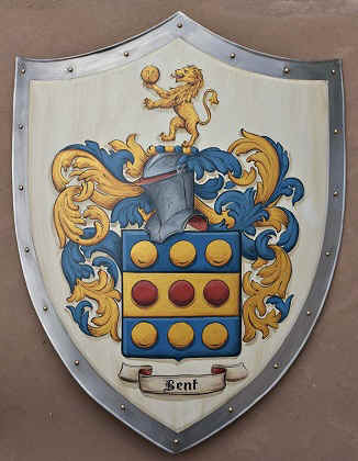 Knight shield with Coat of Arms Bent