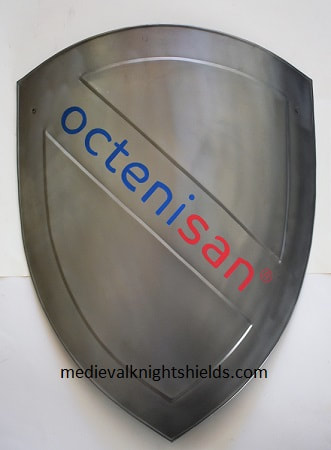 Custom crest shield w. company logo