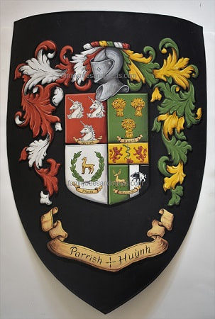 Sport crest, football metal crest shield