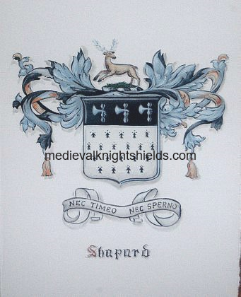 Shapard family crest painting