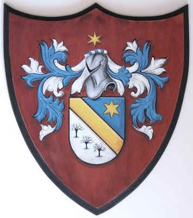 Coat of arms - family crest painting