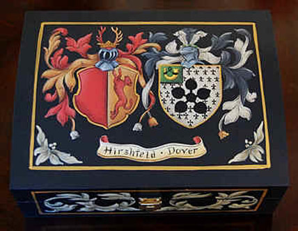 Wedding Coat of Arms - custom family crest box  Hirschfeld - Dover