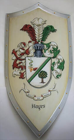 Wedding family crest shield - Hayes