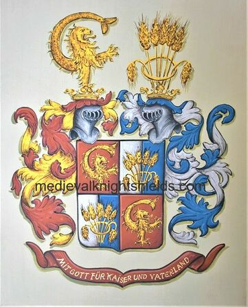 Imhof Family Coat of Arms - Alliance Crest