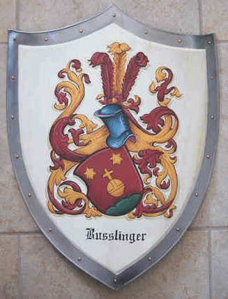 Knight shield with Coat of Arms Busslinger