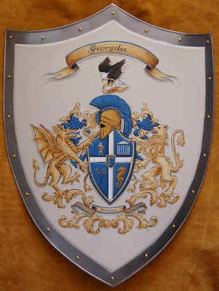 Medieval shield with Coat of Arms Georgeles