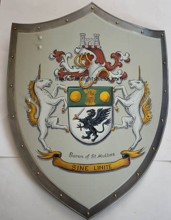 Knight shield Baron of St. Mullins