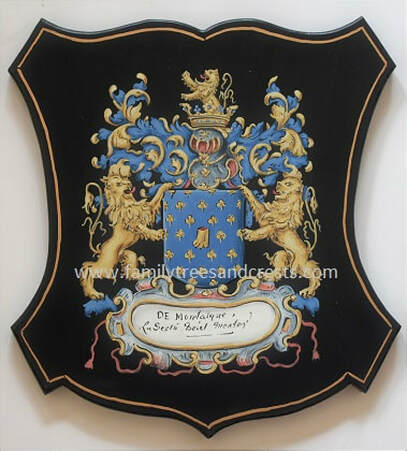 Coat of Arms painting - old world wall plaque