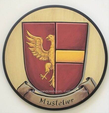Mustelier shield of arms with eagle