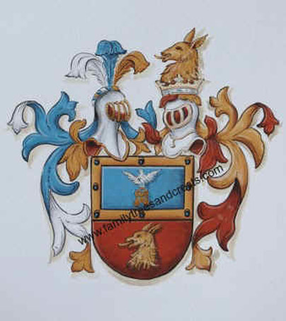 Sotomora Coat of Arms painted w. gold paint