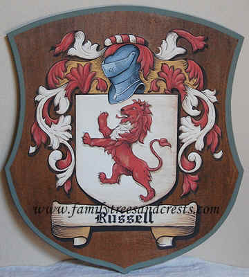 Russel Coat of Arms painting