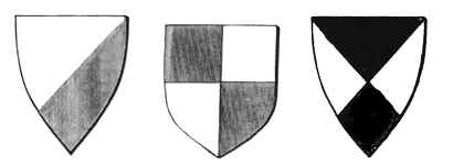 Heraldry meanings heraldic shield divisions 4