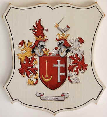 Caot of Arms painting on wooden plaques